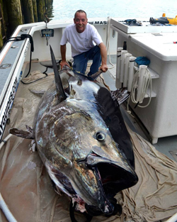 Captain Greg and 910 pound tuna